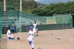 菅原外野手と中大谷外野手