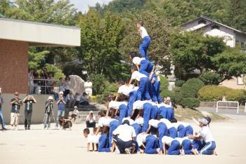 24年、小学校運動会組体操