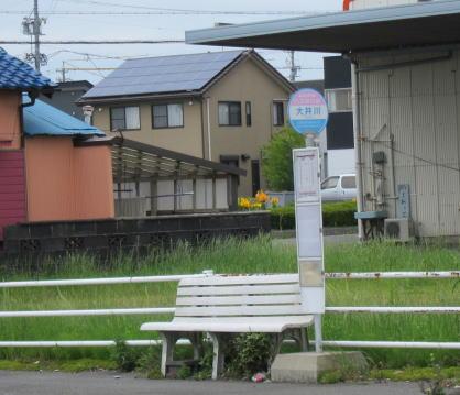 大井川のバス停