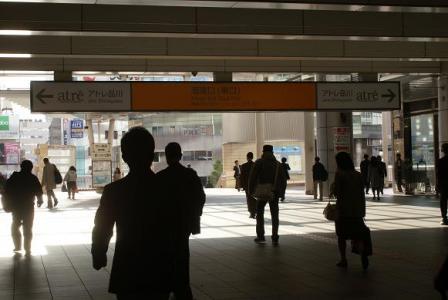 品川駅の朝