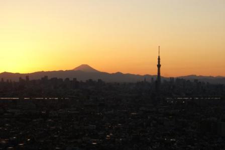 アイリンクから富士山とスカイツリー