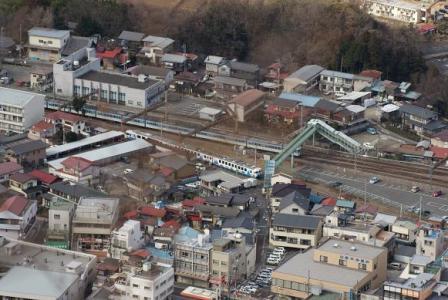 中央線と富士急が並走