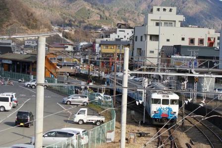 跨線橋から富士急