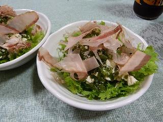 めかぶと豆腐の和え物