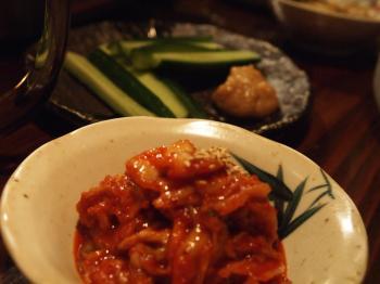 キムチと味噌きゅうり