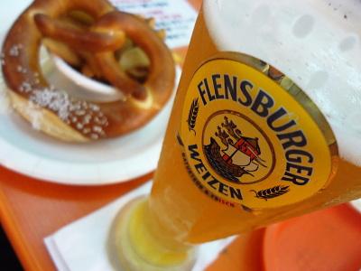 プレッツェルと北のビール
