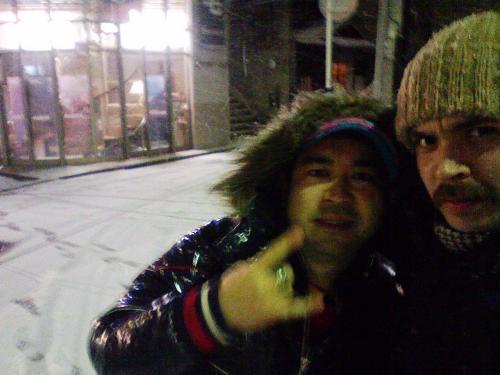 雪の中のサツキヤングと僕
