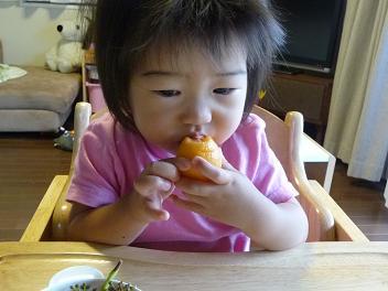 2010 06 18 ビワを食べる2 tibi04