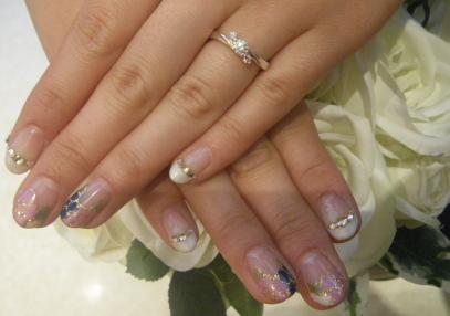 春ネイル&念願の指輪