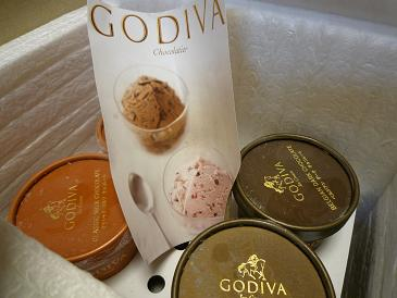 ゴディバのアイス