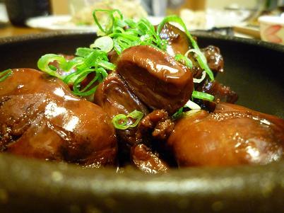 鶏キモの甘辛煮