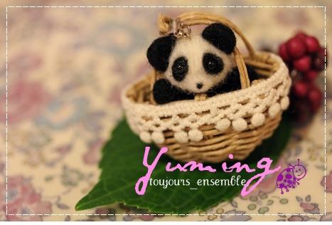 パンダの羊毛フェルト