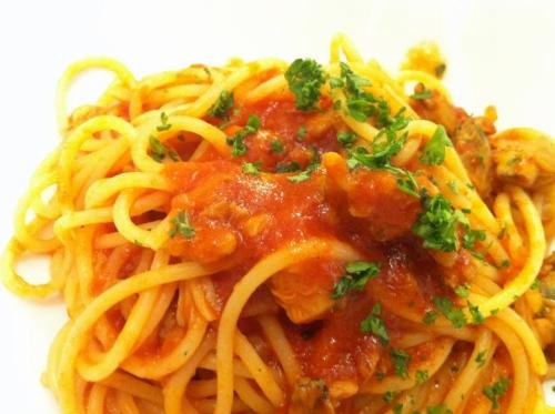 s-12-05-03 週替りパスタ海の幸のトマトソーススパゲッティ