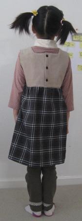 スカートチェックジャンンパースカート2