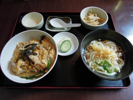 -博多 カツ丼セット 普通盛り (1)