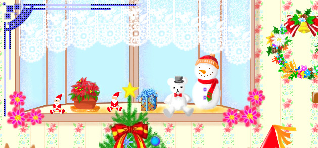 昔のクリスマス絵