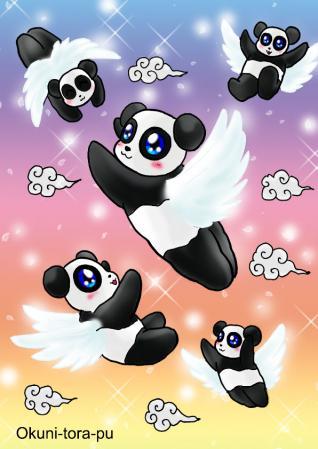 パンダちゃん天使。