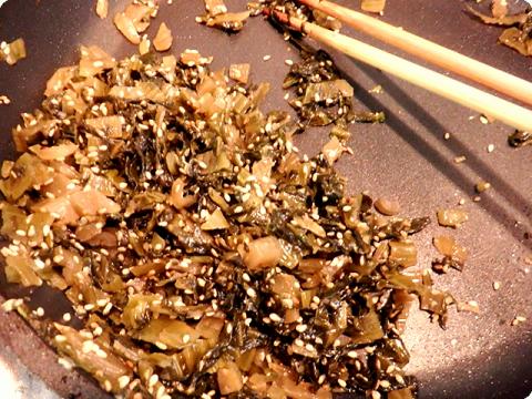 高菜ゴマ炒め