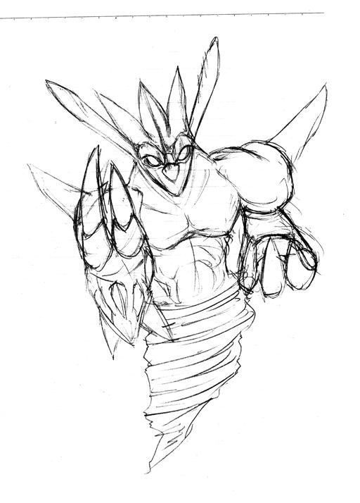 サマナー召喚獣 ヘッジャー第3形態の原画