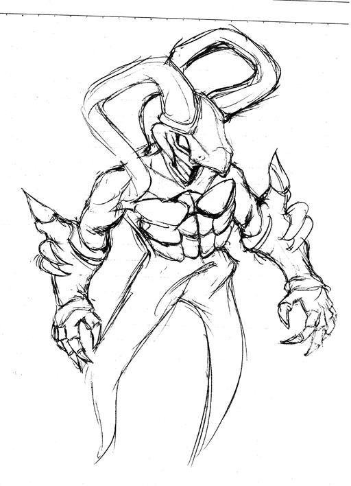 サマナー召喚獣 ウインディ第3形態の原画