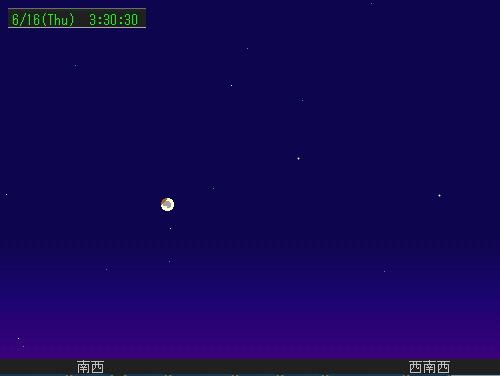 2011 6 16 早朝の皆既月食星図1