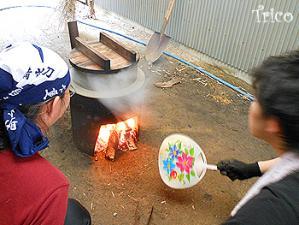 120530-羽釜でお湯作り