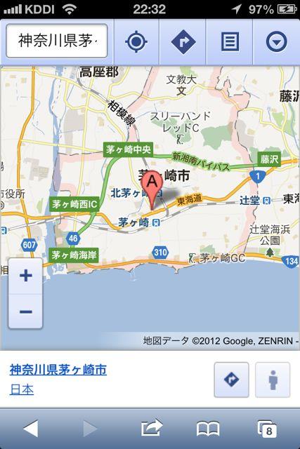 郵便番号茅ヶ崎市地図
