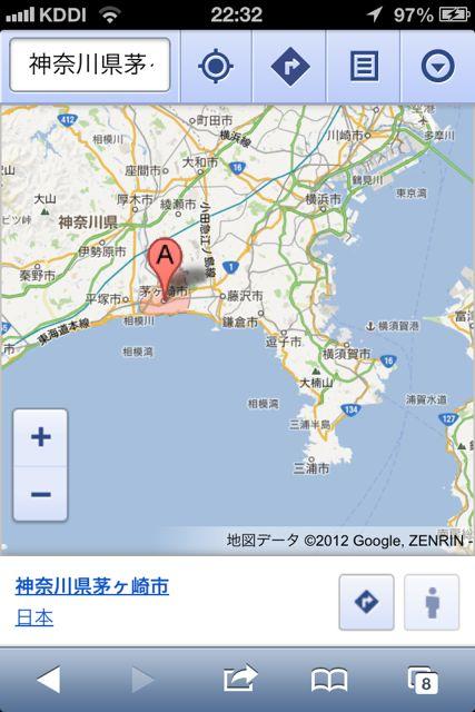 郵便番号茅ヶ崎市地図拡大