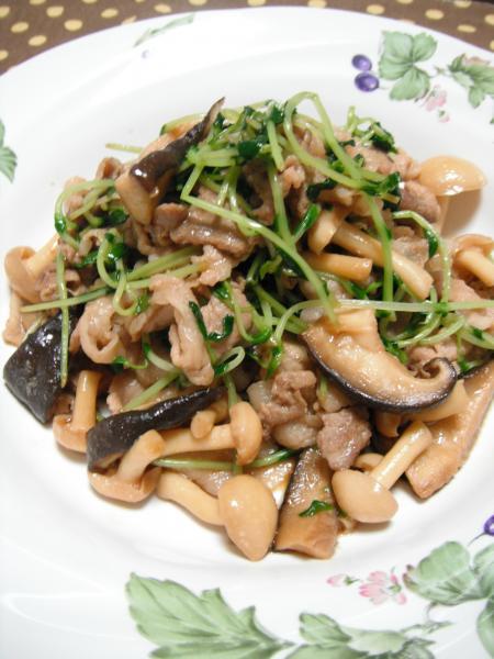 豆苗炒めbl-0917