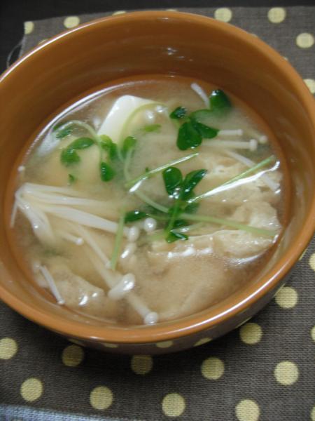 豆苗味噌汁0917