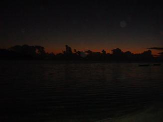 縮小版夜明け前の海岸