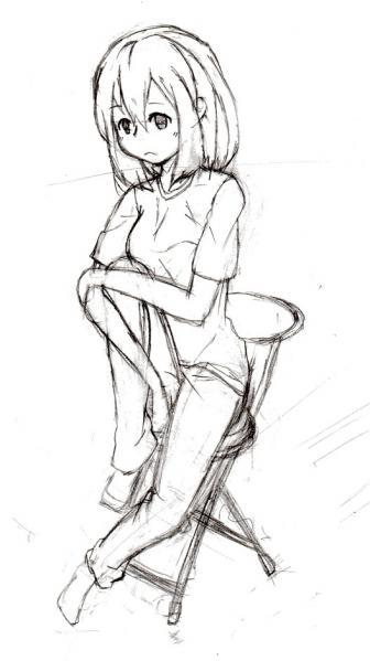 椅子娘ラフ縮小