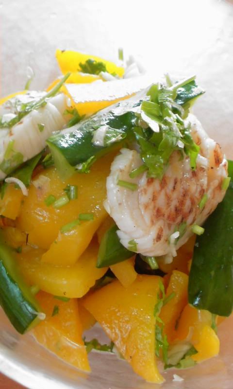 ホタテとグリル野菜のエスニックサラダ