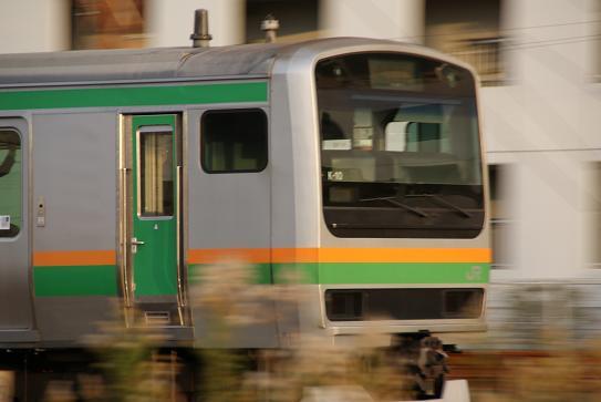東海道線(望遠にて)