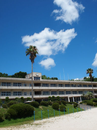青空と校舎