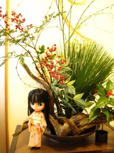 お正月の飾り花