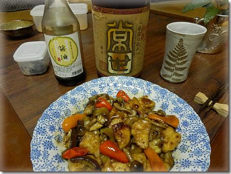 芋焼酎「常世」&凍り豆腐甘酢あんかけ