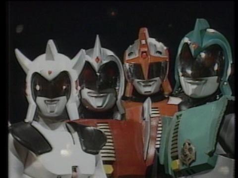 アンドロ戦士たち(左から フロル・ウルフ・マルス・メロス)