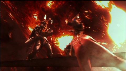 EXゼットンの圧倒的パワーに劣勢のウルトラマンメビウス&メカザム