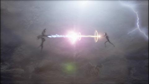 嵐の夜のウルトラマンコスモスVSバルタン星人