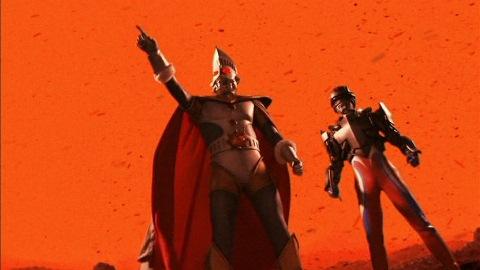 テクターギアを外し、ウルトラマンゼロを怪獣墓場へ誘うウルトラマンキング