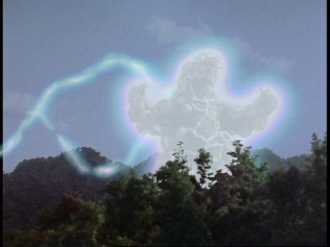 光る隕石からエネルギーを補給するマグニア