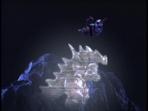 モンスアーガーの弱点を教えるハネジロー