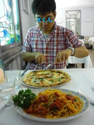 夕飯ミラノ
