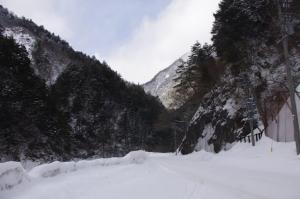 雪の上高地2013