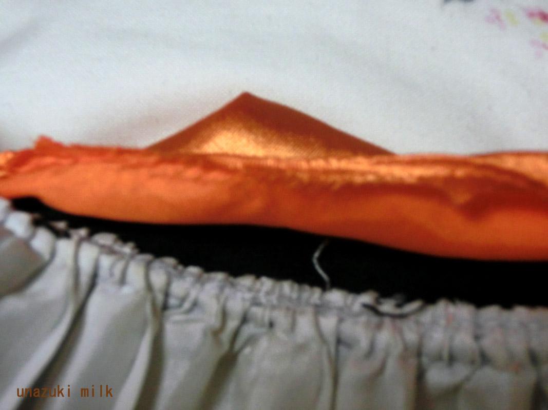 裏の縫い代少ない
