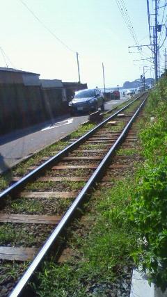 つい珍しくて線路ばかり撮ってしまった。