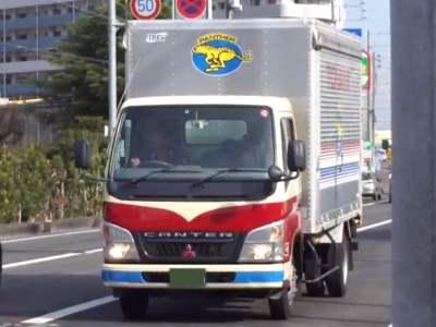 トナミ運輸のキャンター