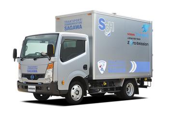 電気トラックの実証運行