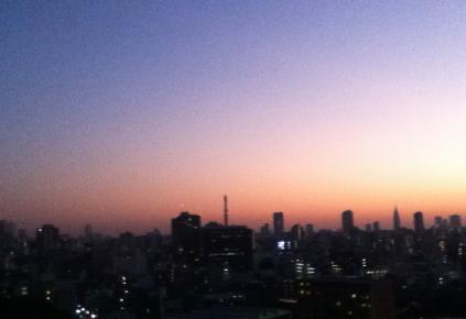 s20121021アカデミー茗台からの夕景